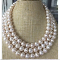 """Long 50"""" AAA+ 8-9MM AKOYA NATURAL WHITE PEARL NECKLACE 14K Gold Clasp"""