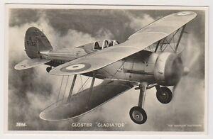 "Aviation postcard - Gloster ""Gladiator"" - RAF (Royal Air Force) - (A12)"