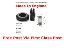 """32mm 1.25"""" 25  PCS RUBBER  OPEN GROMMETS AUTOMOTIVE CABLE WIRING RING MADE IN UK"""
