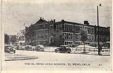 A54/ El Reno Oklahoma Ok Postcard 1939 The El Reno High School