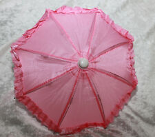 "Doll BJD SD size Dollfie 1/3 scale Umbrella Parasol 18"" American Girl Toy Pink"