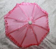 "Doll BJD SD size Dollfie 1/3 scale Umbrella Parasol 18"" American Girl Toy Pink"