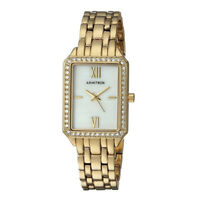 Armitron Women's 24mm Swarovski Crystal Accented Gold-Tone Bracelet Watch