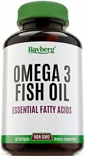 Omega 3 Fish Oil EPA DHA Essential Fatty Acids Supplement High Quality Natural