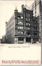 "Columbus, Ohio Postcard ""Board of Trade Building"" Street Scene c1900s Unused"