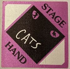 CATS the musical satin stage hand pass SELLING OTHERS THIS ONE IS RARE