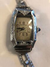 Vintage Antique Art Deco Ladies Watch White Gold Rolled Plate Liberty M Beguelin