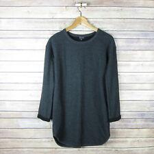 TOPSHOP Women's Ribbed Long Sleeve Dress SIZE 6 Dark Gray