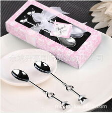 10 Sets Wedding favor and gift for guests coffee spoon with gift box souvenir
