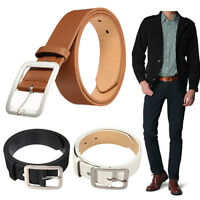 FT- Men's Business Waistband PU Leather Pin Buckle Waist Strap Casual Belt Splen