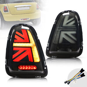 For 2011-2013 Mini Cooper R55 R56 R57 Smoked Led Tail Lights With Sequential