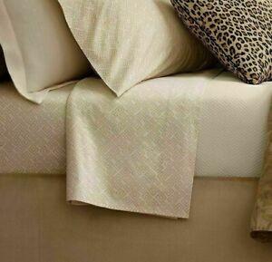 NEW Ralph Lauren Weston Park Hutchings QUEEN Flat Sheet ~ Cream and Ivory $185