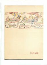 Vintage Cruise Line Menu CUNARD Ship QUEEN MARY Aug 1953 Lunch Bayeux Tapesty