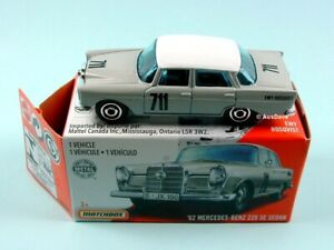 MATCHBOX / 1962 Mercedes-Benz 220SE Sedan (Grey) - Mint in heritage box.
