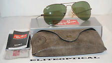 New Authentic RAY BAN Aviator Gunmetal/Green RB3025 177/4E 58 135