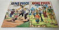 ONE PIECE Illustration Art Book COLOR WALK 1&2  Eiichiro Oda  Anime