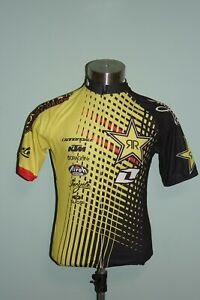 Sugoi Cycling Jersey Short Sleeve Medium Rockstar Incycle Cannondale Full Zip