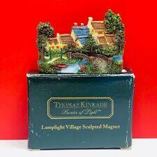 Thomas Kinkade magnet painter light cottage sculpture lamplight village box nib