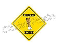 """*Aluminum* Churro Zone Funny Metal Novelty Sign 12""""x12"""""""