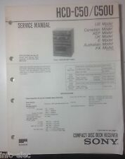 Schema SONY - Service Manual Compact Disc Deck Receveir HCD-C50 HCD-C50U HCDC50