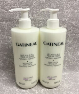 Gatineau Body Lotion With AHA 2 X 400ml Pump Bottles Moisturizing Regenerating