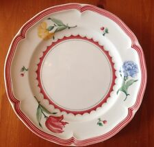 Jardin D'Alsace Fleur Floral Rim Salad Plate by Villeroy & Boch Germany 8 Inches