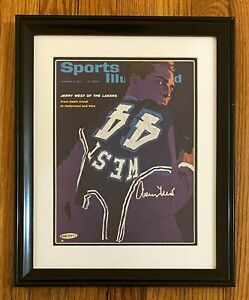 Jerry West Signed 1965 Sports Illustrated Cover ONLY Framed 12x15 UDA COA Lakers