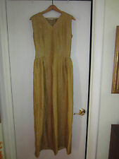 Vintage Gold Lame Full Length Gown 10? 12? Marilyn Monroe would have worn this