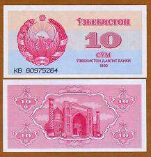 Uzbekistan, 10 Sum, 1992 (1993), P-64, UNC