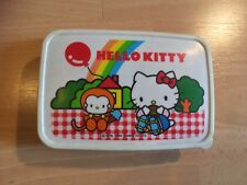 Rare Authentic 1984 Hello Kitty Lunch Box Sanrio Japan Red Collect