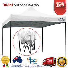 3x3m Outdoor Gazebo Pop Up Tent Folding Marquee Wedding Party Camping Canopy NEW