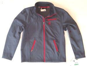 Men' Spyder Fresh Air Softshell Ski Jacket Ombre Blue Lava Red Size Large L
