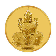 RSBL eCoins Lakshmiji 1 gm Gold Coin 24kt purity 995 Fineness-WITH TAX INVOICE
