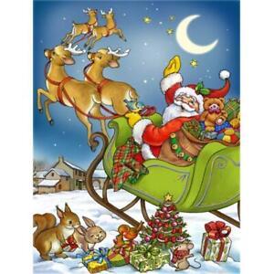 Carolines Treasures APH4570CHF Christmas Santa Taking Off Flag Canvas House Size