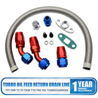 Universal Turbo Oil Line Kits Feed Return Drain Line T3 T4 GT35 T70 T66 T25 T28