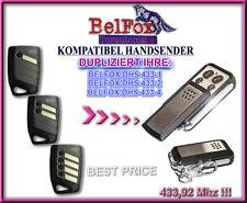 BELFOX DHS -1,2, DHS - 3  433,92MHz Kompatibel Handsender, klone, Ersatz