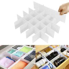 8Pcs Adjustable Drawer Organizer Home Kitchen Board Divider Makeup Storage Box