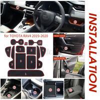 US 12Pcs For Toyota RAV4 19-20 Custom Trim Mat Cup Door Console Liner Holder Pad