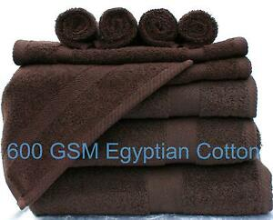 CHOCOLATE BROWN LUXOR 600GSM 100% SOFT EGYPTIAN COTTON CHOICE OF TOWEL BALE SETS