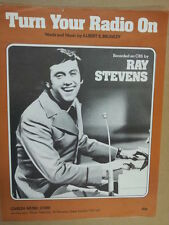 song sheet TURN THE RADIO ON Ray Stevens 1959