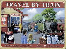 New 30x40cm TRAVEL BY TRAIN Cadbury metal railway advertising wall sign