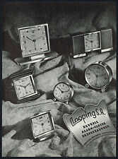 1940's Old Vintage 1948 Corcelles / Looping Alarm Clock Co. Photo Paper Print AD