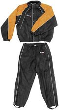 FROGG TOGG HOGG TOGG MOTORCYCLE HARLEY RAIN SUIT BLACK/ORANGE SIZE X-LARGE
