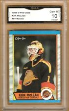 1989-90 O-PEE-CHEE #61 KIRK MCLEAN RC | Graded GEM MINT 10 | Vancouver Canucks