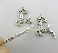 20pcs Tibetan Silver Christmas deer Cross Charms Pendants 14.5x20mm