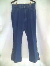 """Vintage Chic Womens Brighton Jeans Beads & Sequins on legs Size 16 Us 33"""" waist"""