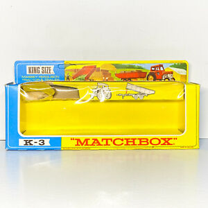 "Matchbox K-3 ""EMPTY BOX"" Super Kings Massey-Ferguson Tractor & Trailer"