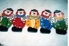 Jolly Clown Coat Hook made by Discoveries in Wood.