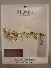 Martha Stewart Garland Greenery Red Foil Berries Craft Kit 30068365