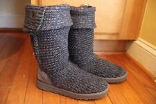Classic Cardy S/N 1876 Metallic Knit Ugg Boots - Gray SIZE 7 (UGG100